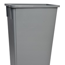 23 Gal. Rectangular Garbage Can Grey