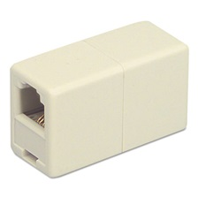 Softalk® Telephone Cord Coupler, Ivory