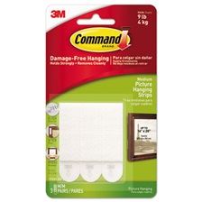 "Command™ Picture Hanging Removable Interlocking Fasteners, 3/4"" x 2 3/4"", Set of 3"