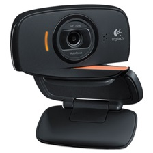 Logitech® Webcam C525,720P HD, 8MP, Black/Silver