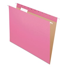 Pendaflex® Colored Hanging Folders, 1/5 Tab, Letter, Pink, 25/Box
