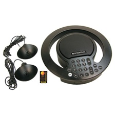 Spracht Aura SoHo Plus Conference Phone, 3 Built-In/2 External Microphones, Black