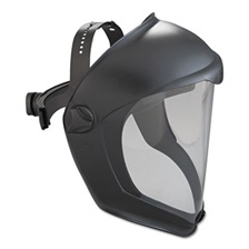 Honeywell Uvex™ Bionic Face Shield, Matte Black Frame, Clear Lens