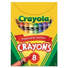 Crayola® Classic Color Crayons, Tuck Box, 8 Colors