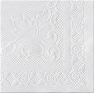Hoffmaster® Classic Embossed Straight Edge Placemats, 10 x 14, White, 1000/Carton