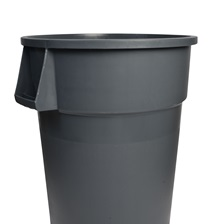 44 Gal. Round Garbage Container Grey