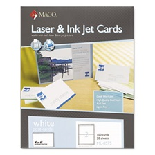 MACO® Unruled Microperforated Laser/Ink Jet Index Cards, 4 x 6, White, 100/Box