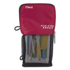 Five Star® Stand 'N Store Pencil Pouch, 4 1/2 x 8, Red