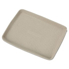 Chinet® StrongHolder Molded Fiber Food Trays, 9 x 12 x 1, Beige, Rectangular, 250/Carton