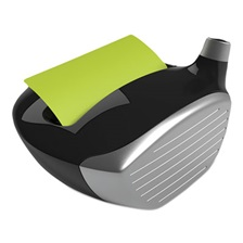 Post-it® Pop-up Notes Super Sticky Pop-Up Notes Golf Dispenser, 3 x 3, Golf Driver, Black/Silver