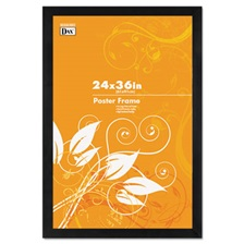 DAX® Black Solid Wood Poster Frames w/Plastic Window, Wide Profile, 24 x 36