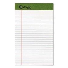Ampad® Earthwise by Ampad Recycled Writing Pad, Narrow, 5 x 8, White, Dozen