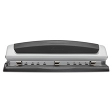 "Swingline® 10-Sheet Precision Pro Desktop Two-to-Three-Hole Punch, 9/32"" Holes"
