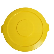 44 Gal. Round Garbage Container Lid Yellow