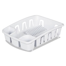 Office Settings Drain Rack, White, Plastic, 5 3/8 x 17 5/8 x 3