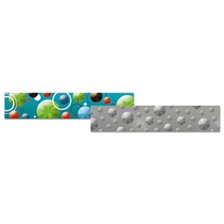 "Teacher Created Resources Holographic Border, 3"" x 33"", Circles and Dots; Silver Dots"