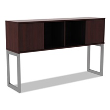 Alera® Alera Open Office Desk Series Hutch, 60w x 15d x 36 1/2h, Mahogany