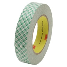 "3M™ Double-Coated Tissue Tape, 1"" x 36yds, 3"" Core, White"