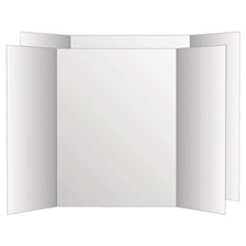 Eco Brites Two Cool Tri-Fold Poster Board, 36 x 48, White/White, 6/Carton