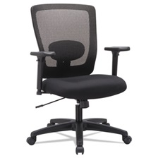 Alera® Alera Envy Series Mesh Mid-Back Swivel/Tilt Chair, Black