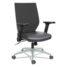 Alera® Alera EB-T Series Syncho Mid-Back Flip-Arm Chair, Black/Gray
