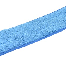 "24"" Microfiber Looped Wet Mop Pad Blue"