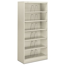 HON® 600 Series Steel Open Shelving, Six-Shelf, 36 x 16-3/4 x 75-7/8, Light Gray