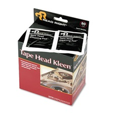 Read Right® Tape Head Kleen Pad, Individually Sealed Pads, 5 x 5, 80/Box