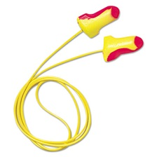 Howard Leight® by Honeywell LL-30 Laser Lite Single-Use Earplugs, Corded, 32NRR, Magenta/Yellow, 100 Pairs