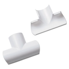 D-Line® Clip-Over Equal Tee for Mini Cord Cover, White, 2 per Pack