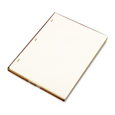 Wilson Jones® Looseleaf Minute Book Ledger Sheets, Ivory Linen, 11 x 8-1/2, 100 Sheet/Box