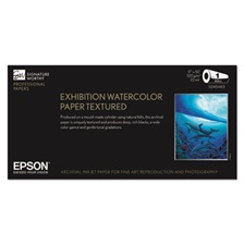 "Epson® Exhibition Textured Watercolor Paper Roll, 17"" x 50 ft, White"