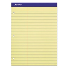 Ampad® Double Sheets Pad, Law Rule, 8 1/2 x 11 3/4, Canary, 100 Sheets