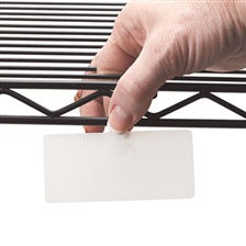 Panter Company Wire Rack Shelf Tag, Side Load, 3-1/2 x 1-1/2, White, 10/Pack
