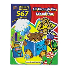 Teacher Created Resources Sticker Book, All Through the School Year, 567/Pack