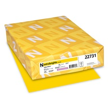 Astrobrights® Color Cardstock, 65lb, 8 1/2 x 11, Solar Yellow, 250 Sheets