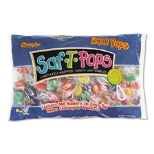 Saf-T-Pops Saf-T-Pops, Assorted Flavors, Individually Wrapped, 200/Pack