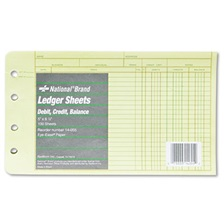 National® Four-Ring Binder Refill Sheets, 5 x 8 1/2, 100/Pack