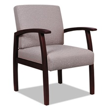 Alera® Alera Reception Lounge 700 Series Guest Chair, Mahogany/Sandstone