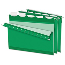 Pendaflex® Colored Reinforced Hanging Folders, 1/5 Tab, Letter, Bright Green, 25/Box