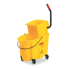 Rubbermaid® Commercial Wavebrake 26 Quart Side Press Mop Bucket & Wringer Combo, Yellow