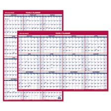 AT-A-GLANCE® Erasable Vertical/Horizontal Wall Planner, 24 x 36, Blue/Red, 2018