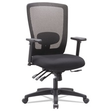 Alera® Alera Envy Series Mesh High-Back Multifunction Chair, Black
