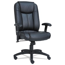 Alera® Alera CC Series Executive High-Back Swivel/Tilt Leather Chair, Black
