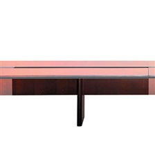 Mayline® Corsica Conference Series 6' Adder Modular Table Base, Sierra Cherry