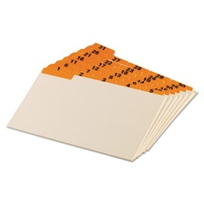 Oxford™ Laminated Tab Index Card Guides, Daily, 1/5 Tab, Manila, 5 x 8, 31/Set