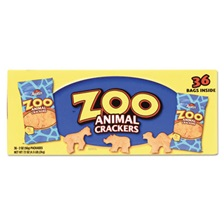 Austin® Zoo Animal Crackers, Original, 2 oz Pack, 36 Packs/Box