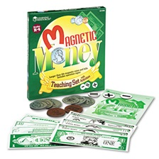 Learning Resources® Magnetic Money, for Grades K and Up
