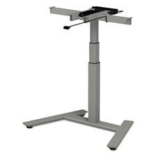 "Alera® AdaptivErgo 1-Column Electric Adjustable Table Base, 24 3/4"" to 43 1/4""H, Gray"