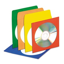 Innovera® CD/DVD Envelopes with Clear Window, Assorted Colors, 50/Pack
